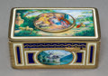 Decorative Arts, Continental:Other , A German Enameled and Gilt Metal Model No. 7 Automaton Singing BirdBox Attributed to Karl Greisbaum with Case by Emil Brenk...