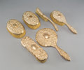 Jewelry:Lots, A Six-Piece American 14K Rose Gold-Plated Vanity Set, 20th century. Marks: B&CO., 14K.P. . 9-3/8 inches (23.8 cm) (longe... (Total: 6 Items)