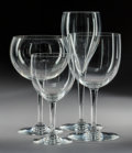 Decorative Arts, French:Other , A Forty-Four-Piece Set of Bacarrat Crystal Stemware, Baccarat,France, 20th century . Marks: BACCARAT, FRANCE. 8-1/2 x 3...(Total: 44 Items)