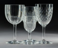 Decorative Arts, French:Other , A Thirty-Piece Group of Baccarat Crystal Stemware, Baccarat,France, 20th century . Marks: BACCARAT, FRANCE. 7 x 3-1/2i... (Total: 30 Items)