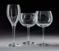 Decorative Arts, French:Other , An Eleven-Piece Group of Baccarat Crystal Stemware...