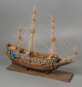 General Americana, A Large Three-Masted Wooden Model of the HMS Sovreign of theSeas Warship by Ben Progosh, 20th century. 31 x 39 ...