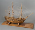 General Americana, A Large Three-Masted Wooden Model of the HMS Victory Warshipby Ben Progosh, 20th century. 32 x 45 x 15 inches (...