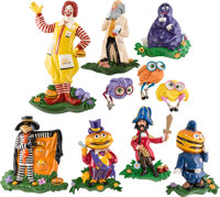 Ronald McDonald and Friends Wall Plaque Set of 10 (McDonald's/Setmakers, c. 1970s-80s).... (Total: 10 Items)
