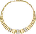 Estate Jewelry:Necklaces, Diamond, Gold Necklace, Jose Hess The necklace...