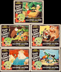 "Movie Posters:Animation, Fun and Fancy Free (RKO, 1947). Lobby Cards (5) (11"" X 14""). Animation.. ... (Total: 5 Items)"