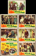 "Movie Posters:Western, Tall in the Saddle (RKO, 1944). Title Lobby Card & Lobby Cards(6) (11"" X 14""). Western.. ... (Total: 7 Items)"