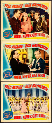 """You'll Never Get Rich (Columbia, 1941). Lobby Cards (3) (11"""" X 14""""). Musical. ... (Total: 3 Items)"""