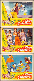 "Movie Posters:Animation, The Three Caballeros (RKO, 1945). Lobby Cards (3) (11"" X 14"").Animation.. ... (Total: 3 Items)"