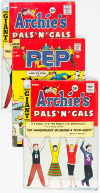 Pep Comics and Archie's Pals 'N' Gals Short Box Group (Archie, 1960s-80s) Condition: Average VG