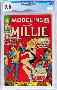 Modeling with Millie #54 (Marvel, 1967) CGC NM+ 9.6 White pages