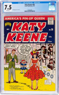 Silver Age (1956-1969):Humor, Katy Keene #28 (Archie, 1956) CGC VF- 7.5 White pages....