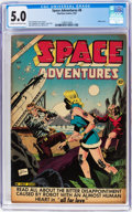 Golden Age (1938-1955):Science Fiction, Space Adventures #8 (Charlton, 1953) CGC VG/FN 5.0 Cream tooff-white pages....