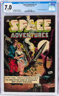 Golden Age (1938-1955):Science Fiction, Space Adventures #7 (Charlton, 1953) CGC FN/VF 7.0 Off-whitepages....