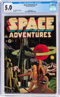 Golden Age (1938-1955):Science Fiction, Space Adventures #5 (Charlton, 1953) CGC VG/FN 5.0 Cream t...