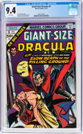 Bronze Age (1970-1979):Horror, Giant-Size Dracula #3 (Marvel, 1974) CGC NM 9.4 White pages....