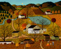 Fine Art - Painting, American, Charles Wysocki (American, 1928-2002). Autumn. Oil oncanvas. 24 x 30 inches (61.0 x 76.2 cm). Signed lower left:Char...