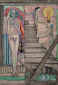 Paintings, William Zorach (American, 1887-1966). Birth, 1915. Oil on canvas. 20 x 14 inches (50.8 x 35.6 cm). Signed lower right: ...