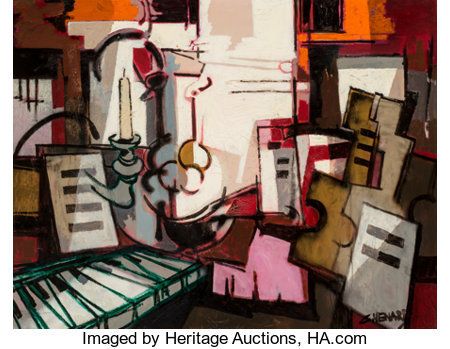 Claude Venard (1913-1999) Le Piano Oil on canvas 45-1/4 x 57-1/2 inches (114.9 x 146.1 cm) Signed lower right: C. ...
