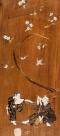 Asian:Other, A Japanese Lacquered and Inlay Decorated Panel, Taisho Period,circa 1912-1926. 31-3/4 x 14 inches (80.6 x 35.6 cm) (work). ...