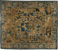 Decorative Arts, Continental:Other , A Flemish Heraldic Tapestry Fragment, 18th century. 88 x 104 inches(223.5 x 264.2 cm). ...