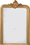 Furniture , A Louis XV-Style Giltwood Pier Mirror, late 19th century. 53 x 36-1/2 x 4 inches (134.6 x 92.7 x 10.2 cm). PROPERTY FROM A...