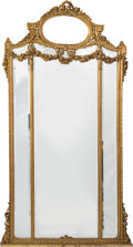 Decorative Arts, French:Other , A Monumental Fin de Siecle Carved and Giltwood Mirror, 19th century. 79-1/4 x 40 x 2-1/2 inches (201.3 x 101.6 x 6.4 cm). ...