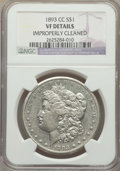 Morgan Dollars, 1893-CC $1 -- Improperly Cleaned -- NGC Details. VF. NGC Census: (206/3030). PCGS Population: (339/6079). CDN: $500 Whsle. ...