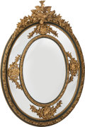 Furniture : Continental, A Large Louis XV-Style Giltwood Mirror . 73 x 53 x 8-1/2 inches (185.4 x 134.6 x 21.6 cm). ...