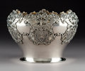Silver Holloware, American:Bowls, An American Silver Bowl with Reticulated Cornucopia Motifs, 20thcentury . Marks: STERLING . 6 x 8-1/2 inches (15.2 x 21...