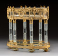 Decorative Arts, French:Other , A Baccarat Empire-Style Gilt Bronze-Mounted Crystal Centerpiece,Baccarat, France, second half 19th century . 12 x 12-1/2 x ...