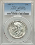1935/34 50C Boone -- Cleaned -- PCGS Genuine. Unc Details. NGC Census: (0/1321). PCGS Population: (0/2052). CDN: $110 Wh...