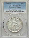 Seated Half Dollars, 1844-O 50C -- Cleaned, Cleaning -- PCGS Genuine. XF Details. NGC Census: (8/76). PCGS Population: (28/126). CDN: $215 Whsle...