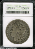 1893-O $1 VF20 ANACS. A smooth, mark-free, evenly worn example, which looks like a textbook example, for the assigned gr...