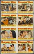 "Movie Posters:Adventure, Elephant Walk (Paramount, 1954). Lobby Card Set of 8 (11"" X 14"").Adventure.... (Total: 8 Items)"