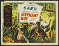 "Movie Posters:Adventure, Elephant Boy (Film Classics, R-1947). Title Lobby Card (11"" X 14"").Adventure...."