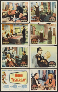 "Born Yesterday (Columbia, 1950). Lobby Card Set of 8 and One Reissue Lobby Card (11"" X 14""). Comedy.... (Total..."