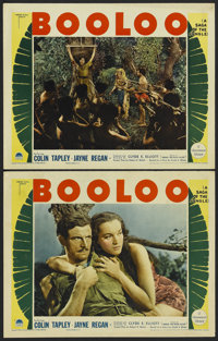 """Booloo (Paramount, 1938). Lobby Cards (2) (11"""" X 14""""). Adventure.... (Total: 2 Items)"""