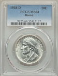 Commemorative Silver, 1938-D 50C Boone MS64 PCGS. PCGS Population: (199/566). NGC Census: (106/336). CDN: $330 Whsle. Bid for problem-free NGC/PC...