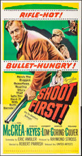 """Movie Posters:Crime, Shoot First (United Artists, 1953). Folded, Very Fine+. Three Sheet(41"""" X 79.5""""). Crime.. ..."""