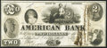 Obsoletes By State:Indiana, Dover Hill, IN - American Bank $2 Nov. 1, 1856. ...
