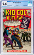 Silver Age (1956-1969):Western, Kid Colt Outlaw #118 (Atlas/Marvel, 1964) CGC NM 9.4 Off-white towhite pages....