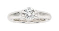 Estate Jewelry:Rings, Diamond, Platinum Ring, Steven Kretchmer The r...
