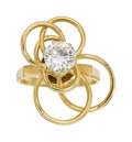 Estate Jewelry:Rings, Diamond, Gold Ring The kinetic ring centers a ...