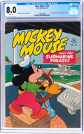 Golden Age (1938-1955):Funny Animal, Four Color #141 Mickey Mouse (Dell, 1947) CGC VF 8.0 Whitepages....
