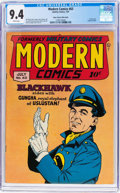 Golden Age (1938-1955):War, Modern Comics #63 Mile High Pedigree (Quality, 1947) CGC NM 9.4White pages....