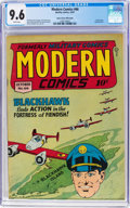 Golden Age (1938-1955):War, Modern Comics #66 Mile High Pedigree (Quality, 1947) CGC NM+ 9.6White pages....