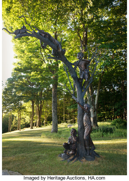 Glenna Goodacre (American, b. 1939) The Rescue Bronze with brown patina 137 inches (348.0 cm) high Ed. 9/15 Inscrib...