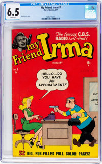 My Friend Irma #7 (Marvel, 1951) CGC FN+ 6.5 White pages