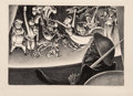Fine Art - Work on Paper:Print, Mabel Dwight (1876-1955). Danse macabre (Dance of death),1933. Lithograph on paper. 9-3/8 x 13-5/8 inches (23.8 x 34.6 ...